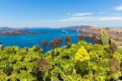 Греция, Santorini, взгляд залива Стоковое фото RF