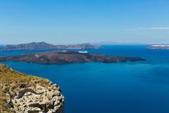 Греция, Santorini, залив Стоковое Изображение