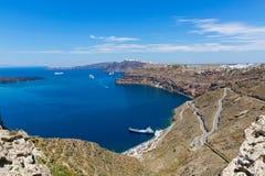 Греция, Santorini, залив Стоковая Фотография RF