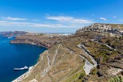 Греция, Santorini, залив Стоковое Фото