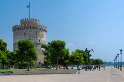 Греция, Thessaloniki, белая башня Стоковая Фотография