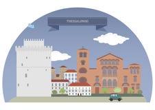 Греция thessaloniki бесплатная иллюстрация