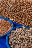 Грецкие орехи, арахисы, смоквы Стоковые Фотографии RF