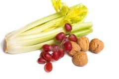 грецкие орехи виноградин сельдерея Стоковые Изображения