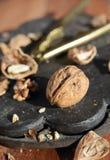 Грецкие орехи в красивом свете утра Стоковые Изображения