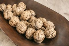 Грецкие орехи в крупном плане раковины Стоковое фото RF