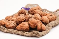 Грецкие орехи в мешке Стоковое Фото
