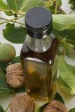 грецкие орехи грецкого ореха масла бутылки Стоковые Изображения