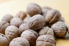 грецкие орехи группы Стоковые Фото