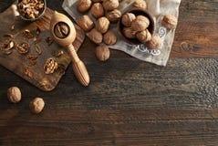 Грецкие орехи и Щелкунчик Стоковое фото RF