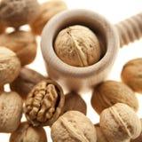 Грецкие орехи и Щелкунчик стоковые изображения