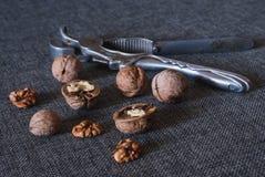 Грецкие орехи и Щелкунчик Стоковые Изображения RF