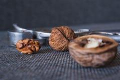 Грецкие орехи и Щелкунчик Стоковые Фото