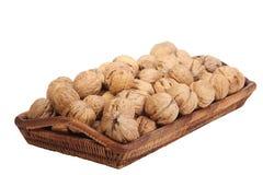 грецкие орехи корзины Стоковая Фотография RF