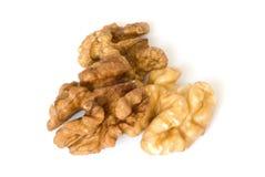 грецкие орехи макроса Стоковые Изображения RF
