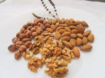 Грецкие орехи, миндалины и фундуки Стоковое Изображение RF