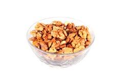 грецкие орехи плиты белые Стоковое Фото