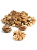 грецкие орехи предпосылки белые Стоковая Фотография RF