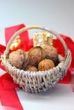 грецкие орехи рождества стоковое фото rf