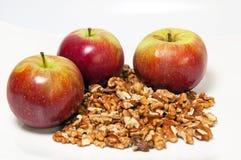 грецкие орехи яблок Стоковое Изображение