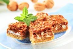 грецкий орех торта Стоковая Фотография