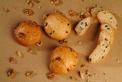 грецкий орех хлеба Стоковое Фото