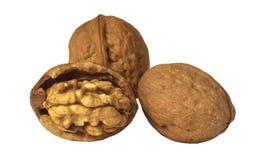 3 грецкого ореха изолированного на белой предпосылке Стоковые Фото