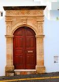Греческая дверь стоковое фото