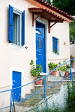греческая дом стоковое изображение rf