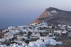 Греческая деревня Стоковые Фото