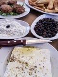 Греческая еда Стоковое Фото