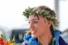 Греческая звезда стрельбы Анна Korakaki - Олимпиады Рио Стоковые Фото
