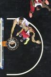 Греческая игра Paok лиги корзины против Olympiakos Стоковые Изображения RF