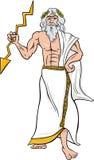 Греческая иллюстрация шаржа Зевса бога Стоковое Изображение