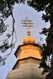 Греческая католическая церковь и святой крест Стоковая Фотография RF