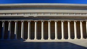 Греческая колоннада, легион почетности, Сан-Франциско, тень и свет Стоковое фото RF
