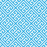 Греческая ключевая безшовная предпосылка картины в голубом и белом Винтажный и ретро абстрактный орнаментальный дизайн Простая кв бесплатная иллюстрация