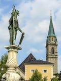 Греческая мифология, протестантская церковь на Зальцбурге Стоковое Фото