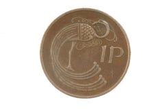 Греческая монетка драхмы, 5 драхм стоковое изображение