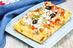 Греческая пицца стоковые изображения rf