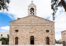 Греческая правоверная базилика St. George в Madaba Стоковые Изображения