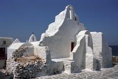 Греческая правоверная церковь Paraportiani стоковая фотография