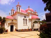 Греческая православная церков церковь 12 апостолов в Capernaum мимо Стоковые Фото