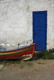 Греческая рыбацкая лодка стоковые фотографии rf