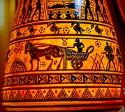 Греческая старая колесница Афины Греция гончарни реплики Стоковое Изображение