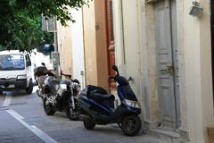 греческая улица стоковая фотография