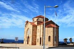 Греческая церковь в Pafos Кипр стоковое фото rf