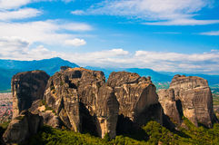 греческие горы утесистые стоковое изображение