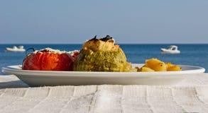 греческие заполненные томаты Стоковое Изображение RF