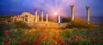 Греческие здания стоковые изображения rf